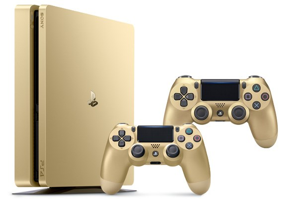 PLAYSTATION 4 500GB SLIM Gold + 2x ovladač