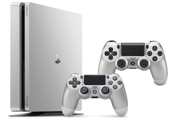 PLAYSTATION 4 500GB SLIM Silver + 2x ovladač