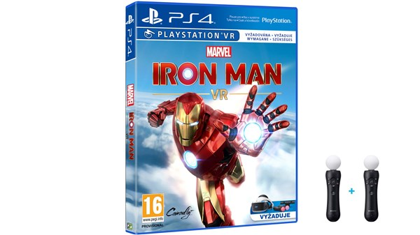 PS4  Marvel's Iron Man VR + 2x MOVE