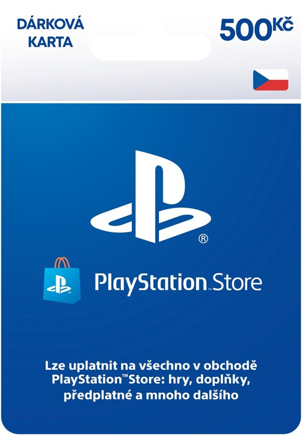Playstation Network Card - 500 Kč