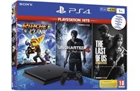 PLAYSTATION 4 1TB SLIM Black + Ratchet & Clank, Uncharted 4, The Last