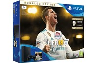 PLAYSTATION 4 1TB SLIM Black + FIFA 18 Ronaldo Edition