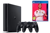 PLAYSTATION 4 1TB SLIM Black + FIFA 20 + 2x Dualshock