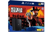 PLAYSTATION 4 PRO 1TB Black + Red Dead Redemption 2
